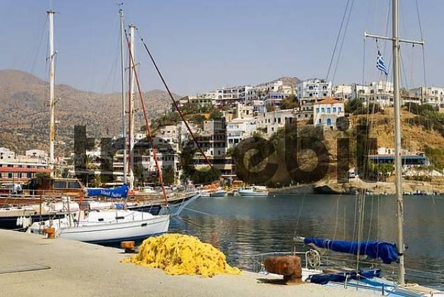 Port of Agia Galini, Crete, Greece, Europe