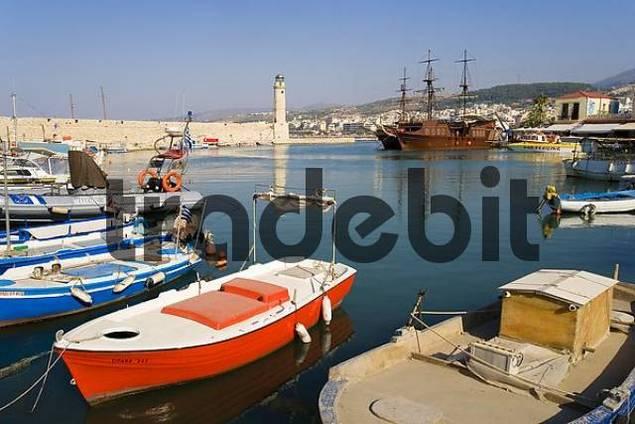 Port of Rethymno, Rethimnon, Crete, Greece, Europe
