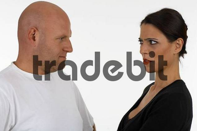 woman remonstrate with a man