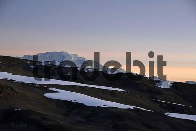 Stufengletscher glacier crater rim Kilimanjaro Tanzania