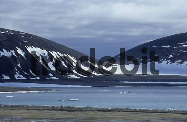 typical landscape, Spitsbergen, Svalbard, Arctic, Norway