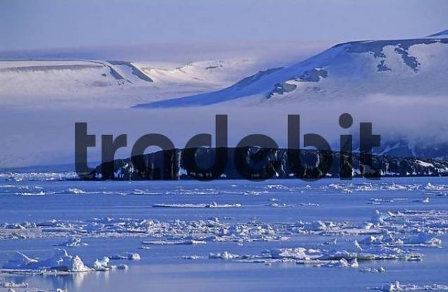 drift ice, Hinlopenstreet, Spitsbergen, Svalbard, Norway, Arctic