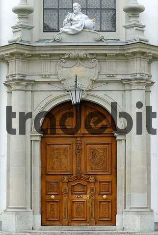 Sankt Gallen - portal from the cathedral - Switzerland Europe.