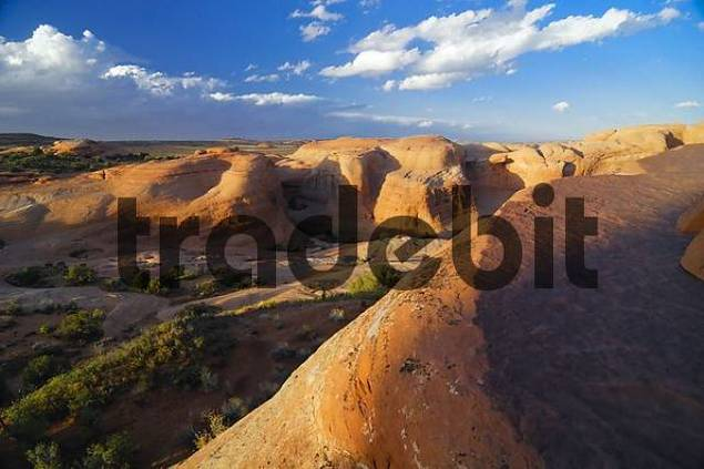 Sandstone Mountains, Arches National Park, Utah, USA