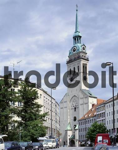St Peters Church, Viewing tower, Munich, Bavaria, Germany