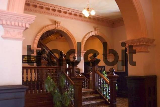 staircase in Empire Hotel Queenstown Tasmania Australia
