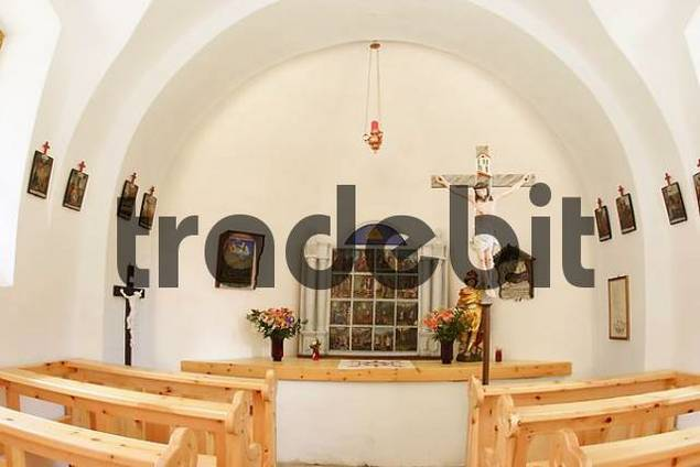inside the chapel of Saint Briccius near Heiligenblut Carinthia Austria