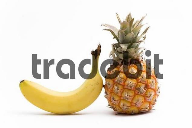pineapple and banana