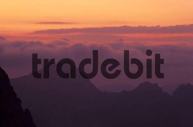 Sunset, Karwendel, Tyrol, Austria