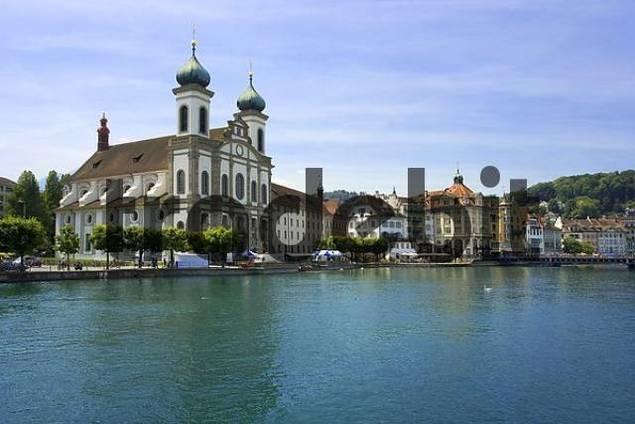 Altstadt, Jesuitenkirche, Luzern, Schweiz, Europa