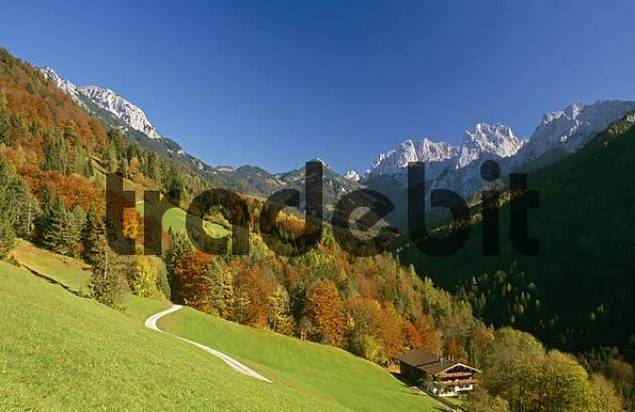 eastern view of valley Kaisertal Tyrol Austria