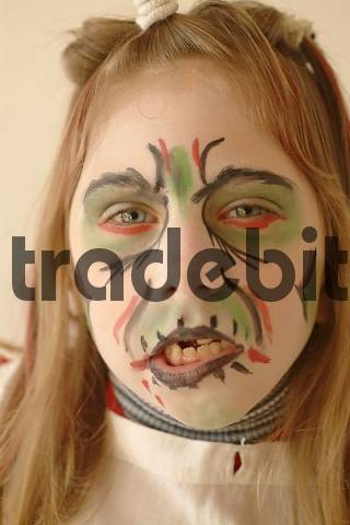 girl in costume and make-up