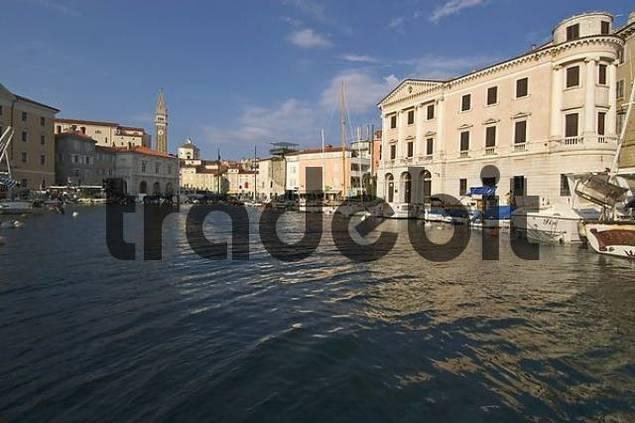 Piran Slovenia Istria at the harbour