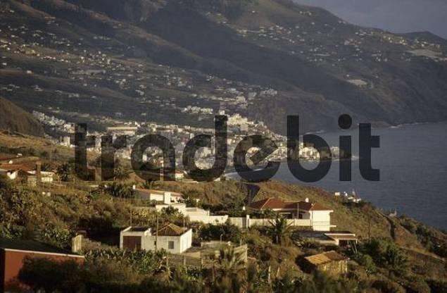 City of Santa Cruz at sunset, La Palma, Canary Islands, Spain