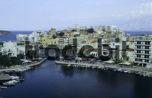 Harbour of Agios Nikolaos, Crete, Greece