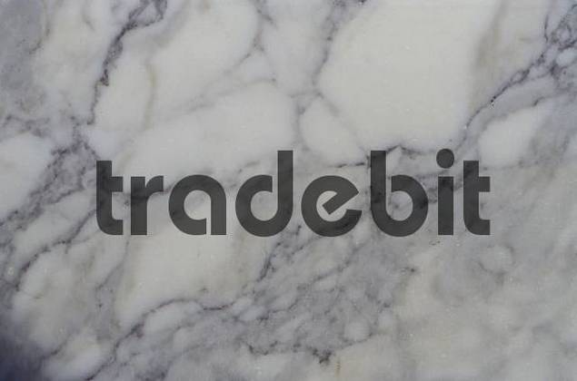 Grey and white marble, Carrara marble, polished, detail, structure