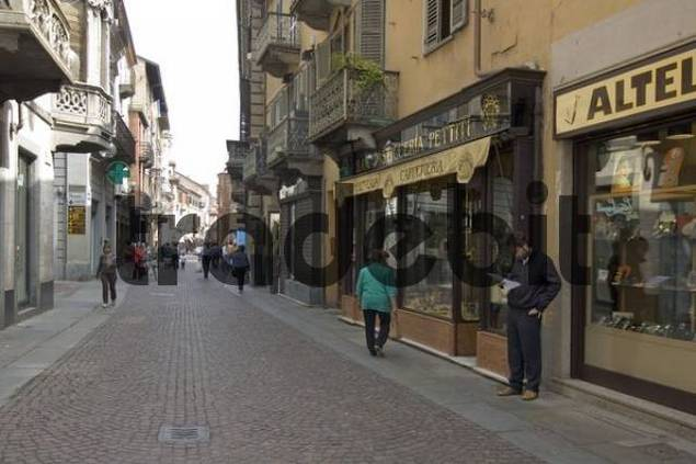 Alba Piedmont Piemonte Italy shopping street Via Vittorio Emanuelle II.