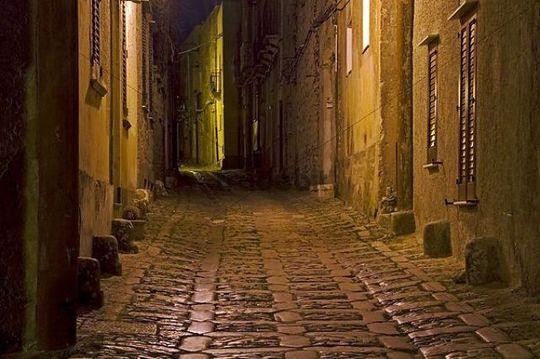 Dark Creepy Alleyway At Night