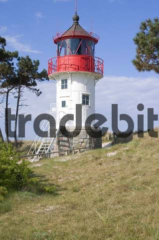Hiddensee island Mecklenburg Vorpommern Germany light house Gellen