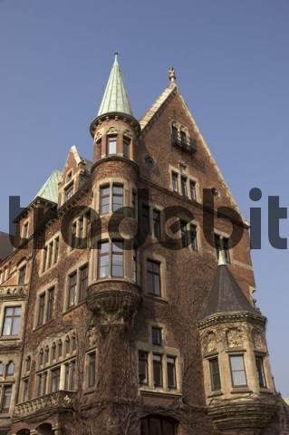 Typical brick work building at the Hamburger Speicherstadt Germany