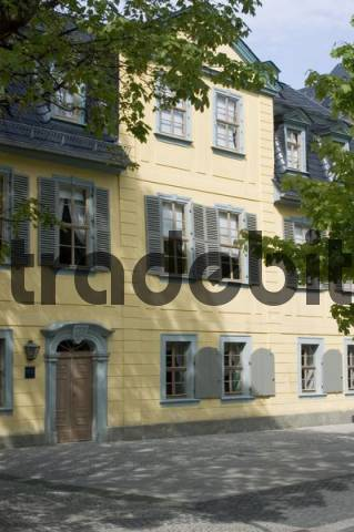 Weimar Thuringia Germany house of the German poet Friedrich Schiller
