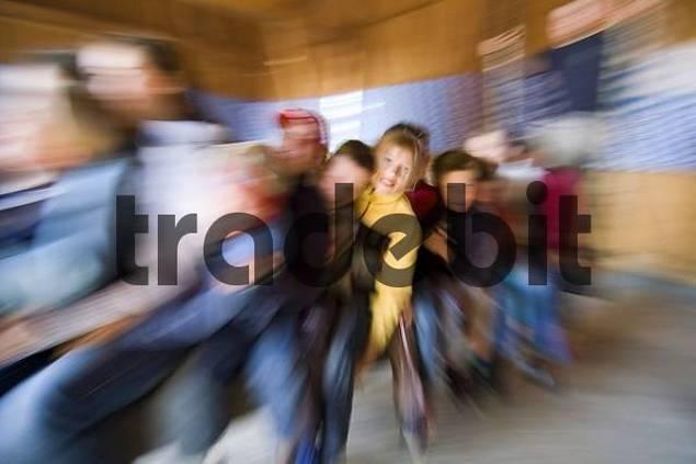 kirtahutschen swinging during the feast church anniversary Upper Bavaria custom Gelting city of Geretsried Germany