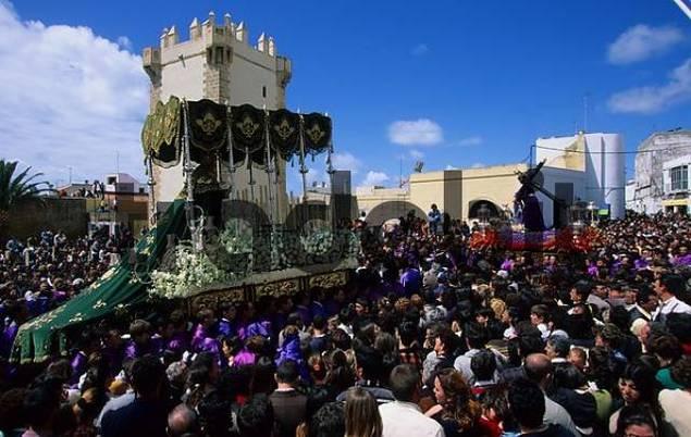 Conil de la Frontera Semana Santa Procession in Holy Week Andalusia Province Cadiz Spain
