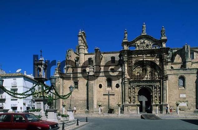 Plaza Espaa Iglesia Mayor Prioral in El Puerto de Santa Mara Costa de la Luz Andalusia Province Cdiz Spain