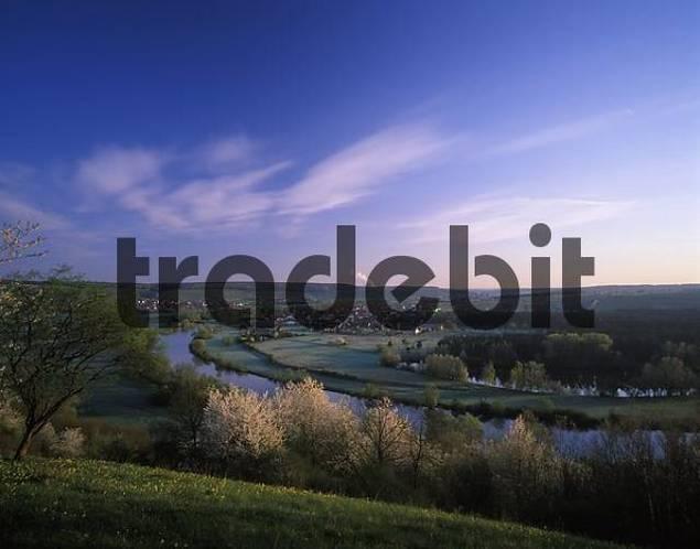 Fahr Main Mainschleife Franconia Bavaria Germany