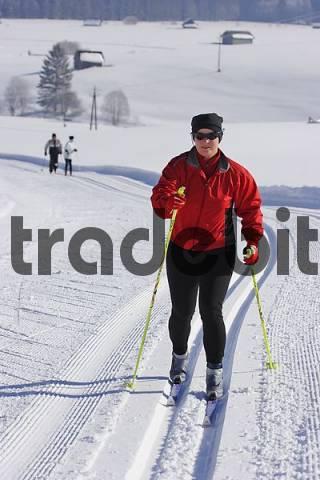 cross country skiing Krungl Styria Austria