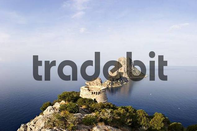 tower Torre des Savinar with islands Es Vedra and Es Vedranell - Ibiza
