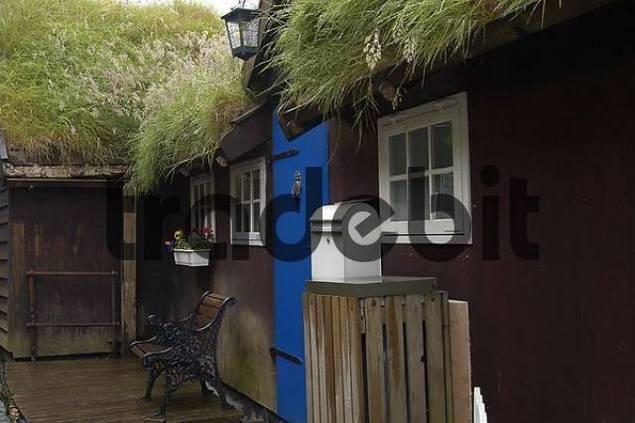 old wooden buildings in the capital city Faeroe Islands