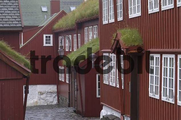 old wooden buildings in the capital city Faeroe Islands