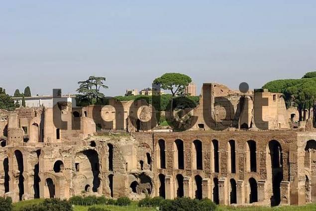 Ruins Palatine Hill Rome Italy