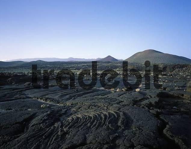 field of lava in La Restinga El Hierro Canary Islands Spain