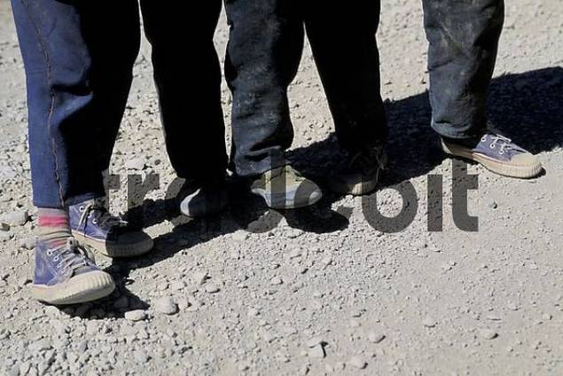 Feet of children Tibet