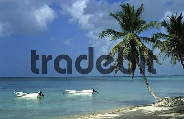 Boats at the beach, Dominican Republic