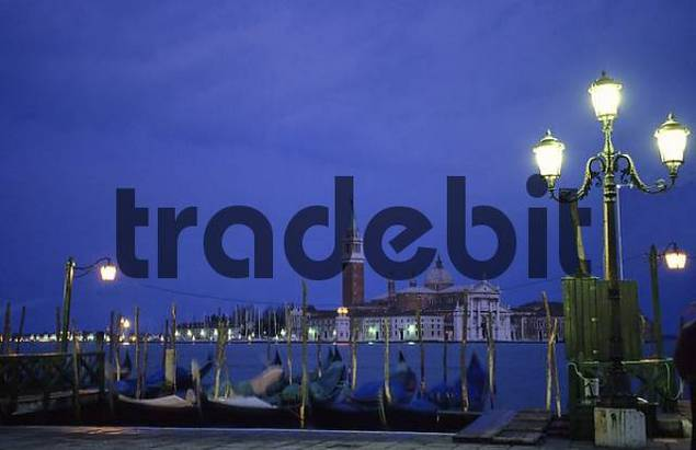 Bay of Venice at dusk, Italy