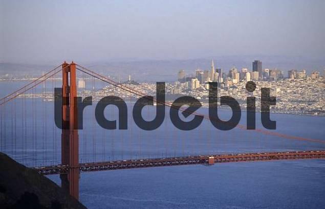 Golden Gate Bridge and Skyline, San Francisco, California, USA