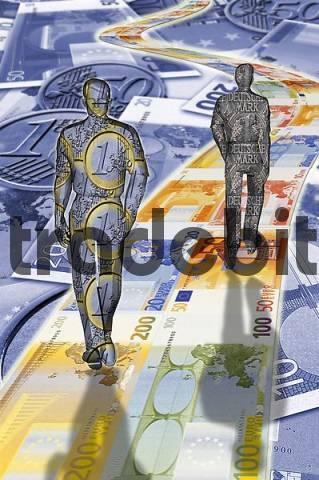 Euro comes DM leaves
