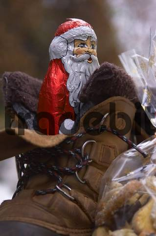 Boot with a Santa Claus