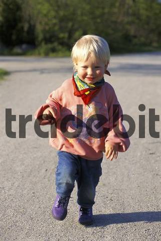 One-and-a-half-year-old boy running
