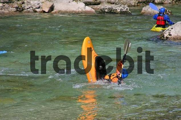 white water rafting and canoeing on the Salza river village of Wildalpen Styria Austria
