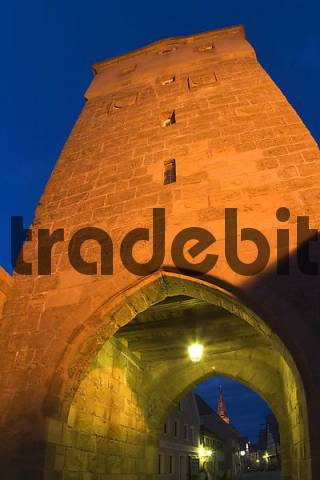 city gate in Wolframs-Eschenbach - Franconia - Germany