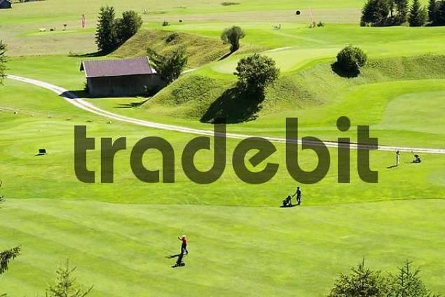 golf course in Wallgau - Upper Bavaria