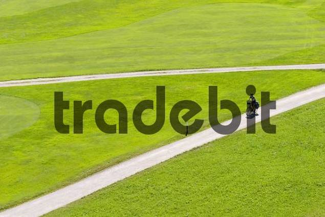 biker - golf course in Wallgau - Upper Bavaria