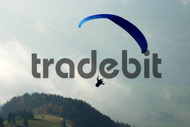 paragliding at Hochries, Bavaria, Germany