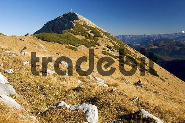 at the peak of Hinteres Sonnwendjoch, Bavaria, Germany
