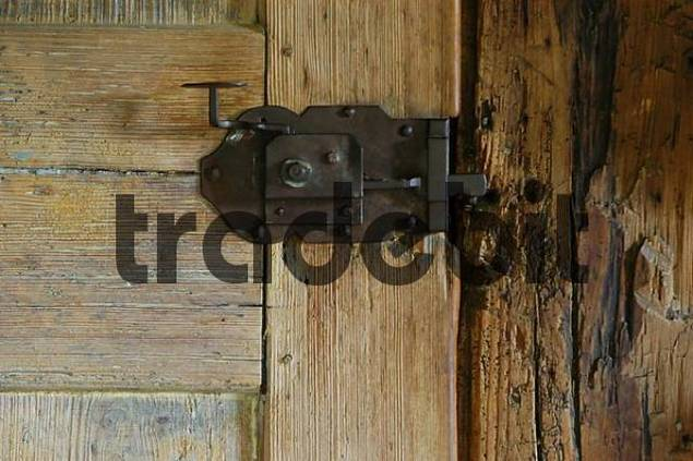 Door lock of a wooden door upper bavaria bavaria for Door lock germany
