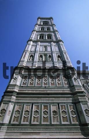 Campanile Duomo di Sata Maria del Fiore Cathedral Florence Tuscany Italy